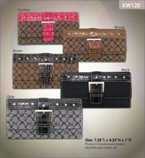 50 LOT WHOLESALE DESIGNER INSPIRED FASHION WALLET CLUTCH TRIFOLD