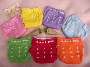 WHOLESALE LOT 10pcs Reusable Baby Cloth Diaper Nappy + 10pcs Inserts