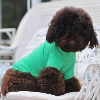 Dog T shirts wholesale dog clothing Dog blank t shirt Pet tee cotton
