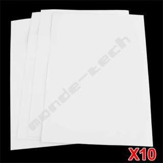 10 X T Shirt Fabric Iron On Inkjet Heat Transfer Paper