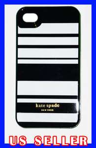 SPADE Apple iPhone 4 Hard Case Cover Black White Stripes NEW