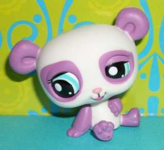 Littlest Pet Shop~#1435 PURPLE & WHITE PANDA BEAR Special Edition~N112