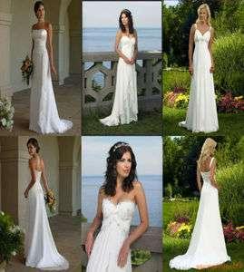 New Custom White Ivory Wedding Bridesmaids Dress Prom Gown Size 6 8 10