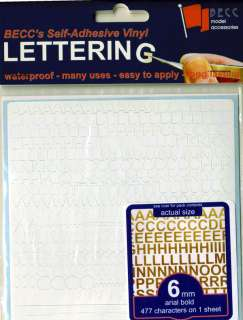 Letter & Number Vinyl Decal Sticker Set   *WHITE*
