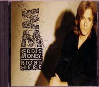 Eddie Money Right Here CD Classic 80s Rock Run Right Back Fire Water