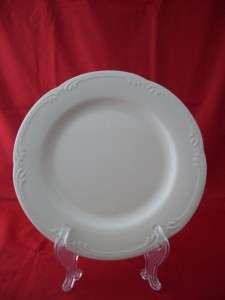 PFALTZGRAFF FILIGREE STONEWARE WHITE DINNER PLATE