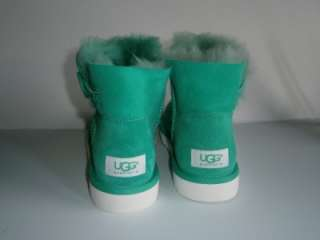 UGG BOOTS Classic MINI BAILEY BUTTON JADE Green Womens sz 6 / UK 4.5