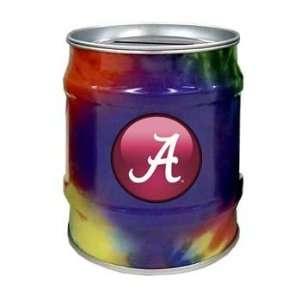 Alabama Crimson Tide UA NCAA Tie Dye Tin Bank Sports