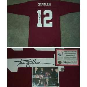 Ken Stabler Signed Alabama Throwback Jersey Sports