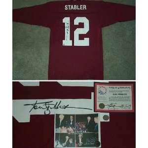 Ken Stabler Signed Alabama Throwback Jersey Sports