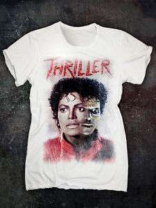 MICHAEL JACKSON THRILLER T SHIRT   Vintage Slim Fit