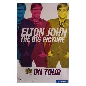 ELTON JOHN   THE BIG PICTURE (ALBUM AND TOUR PROMO POSTER