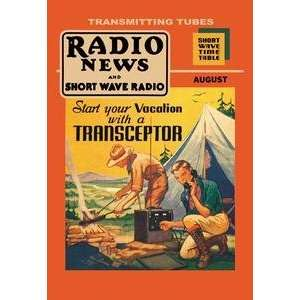 Poster 12 x 18 stock. Radio News and Short Wave Radio