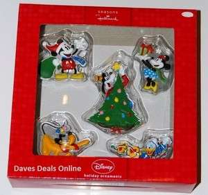 Disney characters Ornaments Mickey, Minnie, Donald, Pluto Goofey