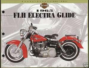 1965 HARLEY DAVIDSON FLH ELECTRA GLIDE 8.5 X 11 Print