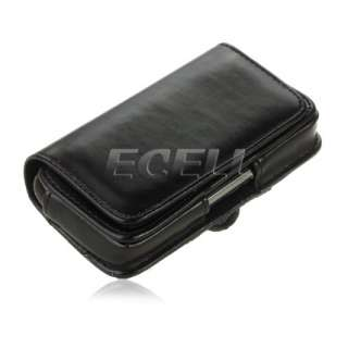 LEATHER CASE POUCH WITH BELT CLIP FOR BLACKBERRY TORCH 9860