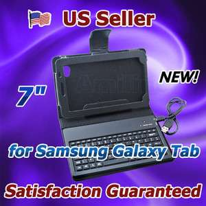 Wireless Keyboard Leather Case Stand for 7 Samsung Galaxy Tab P1000