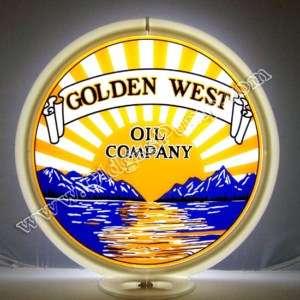 GOLDEN WEST GASOLINE & OIL GAS PUMP GLOBE FREE S&H