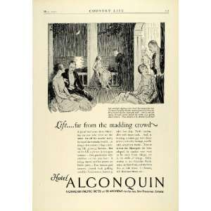 1925 Ad Algonquin Hotel St Andrews Moonlight Couples