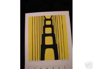this is a 1990 limited edition art deco serigraph print by