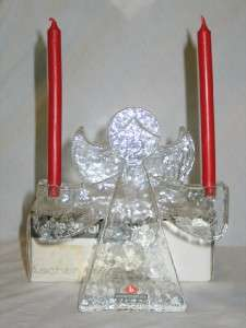 Wiesenthalhutte Ascher Crystal Angel Candle Holder IOB