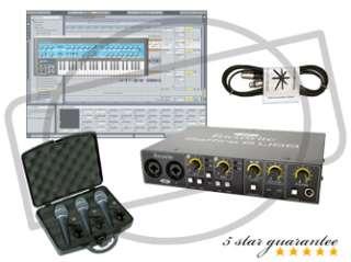 Focusrite Saffire 6 USB Audio Recording Interface   Home Studio Bundle