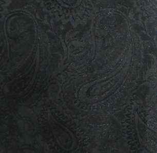 Black Paisley Tuxedo Vest / Tie Wedding Boys Large