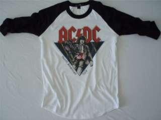AC/DC t shirt acdc 82 tour vtg style jersey ac dc 03