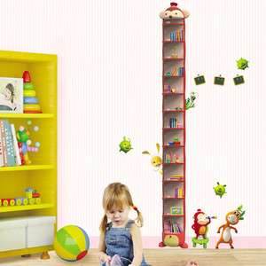Growth Chart Adhesive Removable Wall Decor Accents Stickers Decals