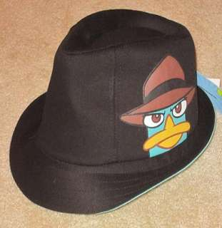 New Perry the Platypus Agent P Stylish Kids Fedora Hat Phineas & Ferb