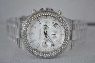 Michael Kors Clear with Silver Tone Womens Watch MK5337 #30