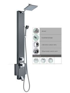 Stainless Steel Shower Panel Tower Rain Overhead Spa 1