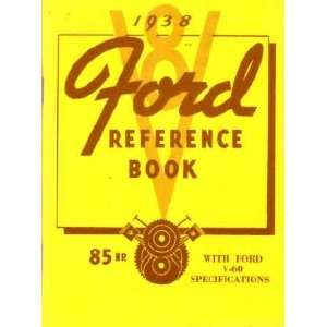 1938 FORD PASSENGER CAR Owners Manual User Guide Automotive