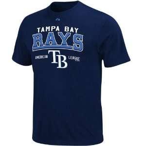 Bay Rays Navy Blue Built Legacy T shirt (Small)