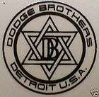 1926 AND LATER MODELS DODGE BROTHERS INSTRUMENT PANEL DECAL items in
