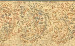 Paisley French Tuscany Wallpaper Border