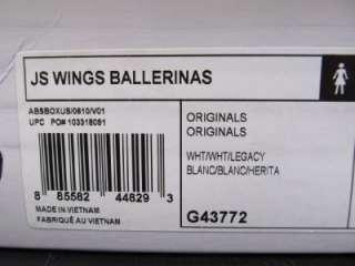 Adidas ObyO Jeremy Scott JS Wings Ballerina Flat Shoes Angel WHITE