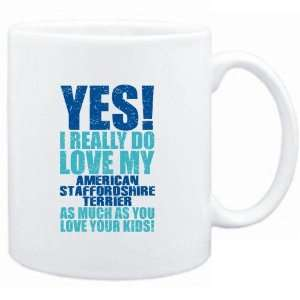 White  YES! I REALLY DO LOVE MY American Staffordshire Terrier  Dogs