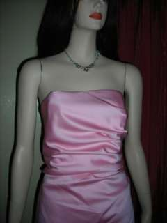 Alfred Angelo Pink Satin Cocktail Wedding Dress 14 NWT