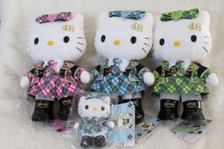 AKB48 x Hello Kitty Plush doll Team K Green NEW Japan limited