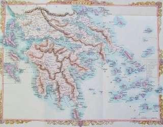1851 RAPKIN   TALLIS. Greece Turkey Ipsera Grecia Creta