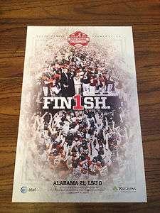 Rare Alabama Crimson Tide National Championship Celebration Poster