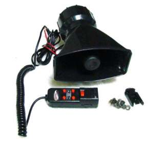 12V Loud Horn for Car Van Truck with 5 Sounds PA System