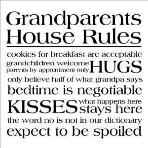 House Rules wall sayings vinyl lettering decal home decor quotes