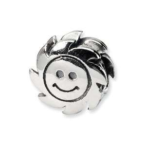 (tm) Sterling Silver Smiling Sun Bead / Charm Finejewelers Jewelry