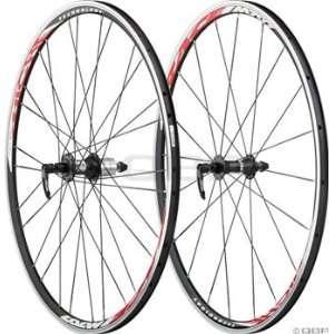 Miche Race Shimano 10 Speed Wheelset Black & Red Rim