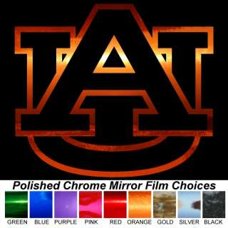 Auburn Tigers AU 12 Chrome Auto Window Stickers Decals