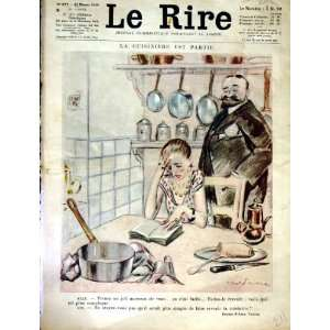 LE RIRE (THE LAUGH) FRENCH HUMOR MAGAZINE KITCHEN COOK