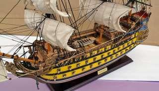 Barco de madera de modelo de SOLEIL ROYAL de navegación alta de