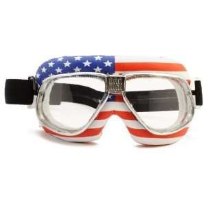 Nannini Clear Anti Fog Cruiser Flag USA Goggles